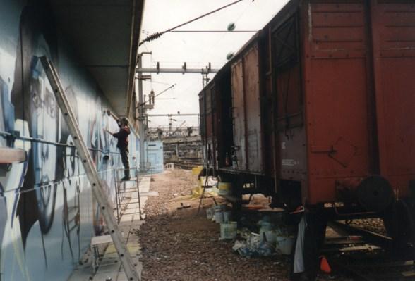 Daim painting @ Paris Gare du Nord 1994