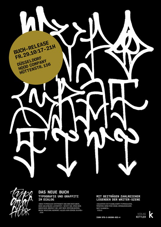 Flyer Typograffiti HoodCompany