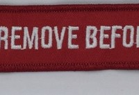 KEYCHAIN – Remove Before Flight