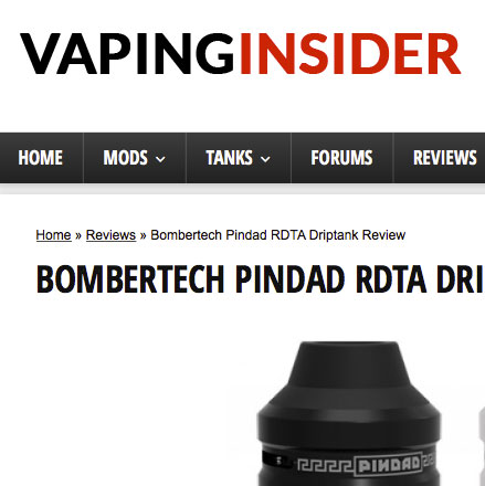 PINDAD RDTA DRIPTANK REVIEW by Deuces Jack Vaping Insider