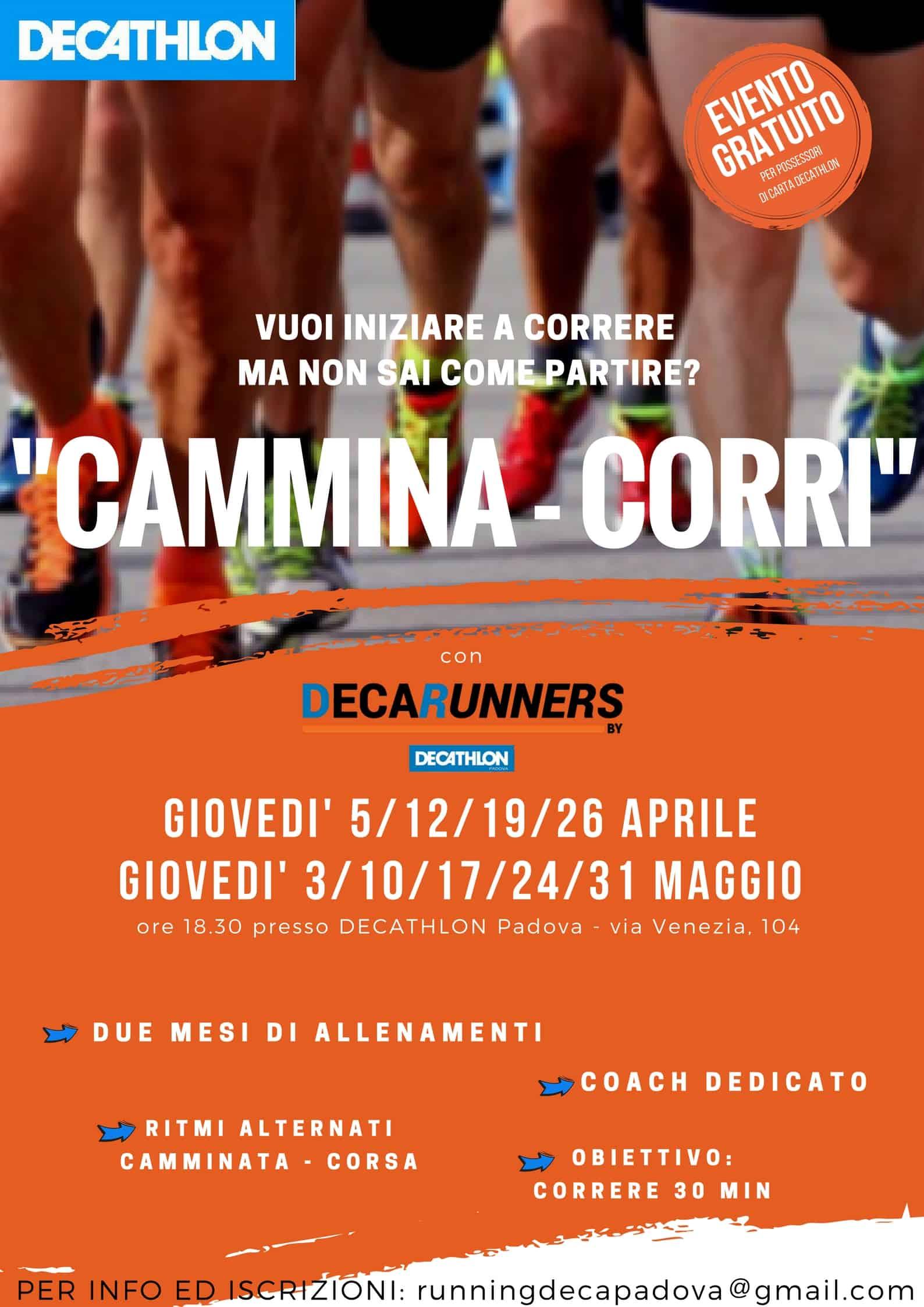 "Evento ""CAMMINA-CORRI"" by Decathlon"