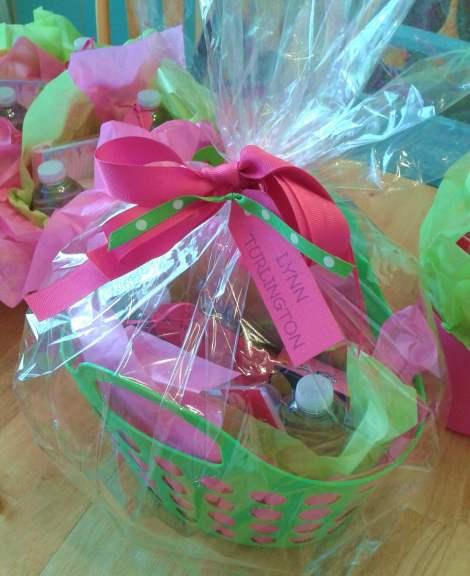 Bridal Shower Gift Basket Climbing On House Halloween: Colorful Gift Basket