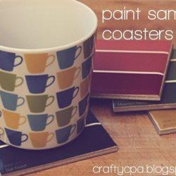 Paint Sample Coasters