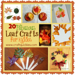 20 Fabulous Leaf Crafts for Kiddos