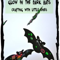 Glow in the Dark Bats Kid Craft