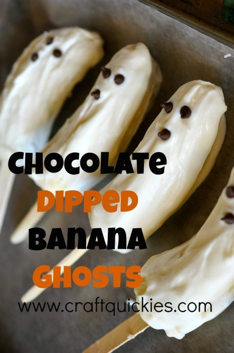 Chocolate Dipped Banana Ghosts are a fun and spooky Halloween treat and activity to make with kids!
