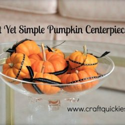 An Elegant Yet Simple Pumpkin Centerpiece