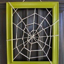 Yarn Spider Web Wreath