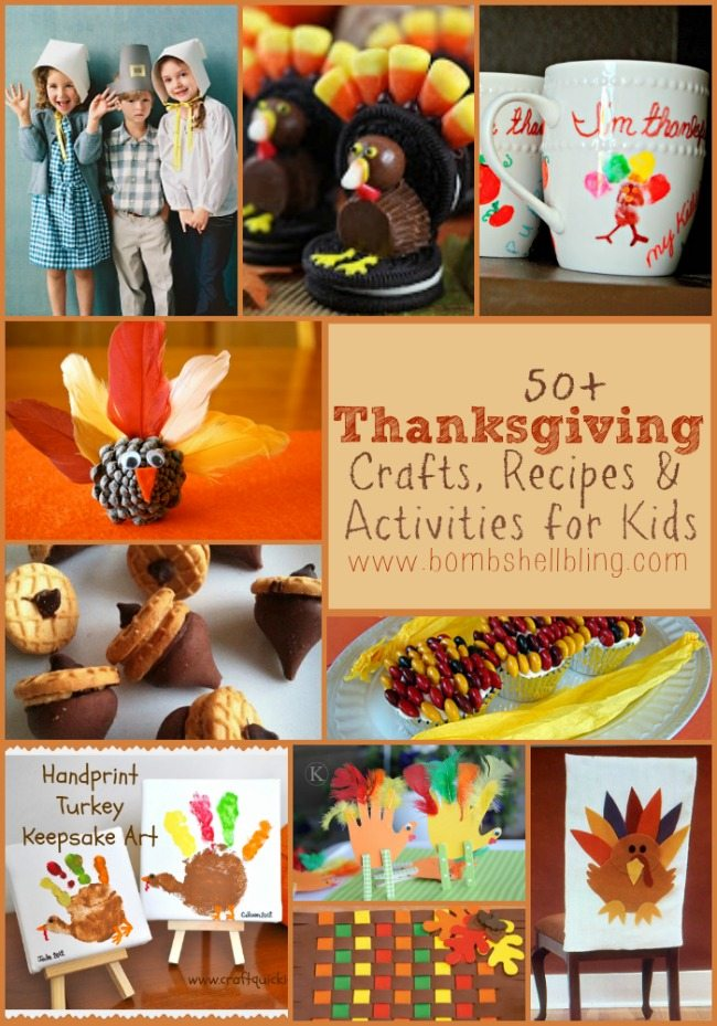 Thanksgiving is a fun and exciting day for everyone, but waiting for the turkey isn't always easy. Here are 50+ crafts, recipes, and activities to do with kids!