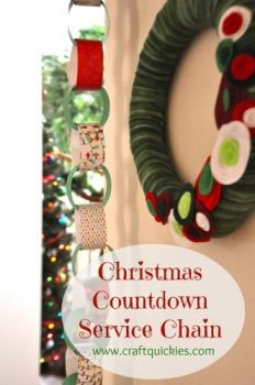 Christmas Countdown Service Chain from Craft Quickies