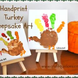 Turkey Handprint Keepsake Art