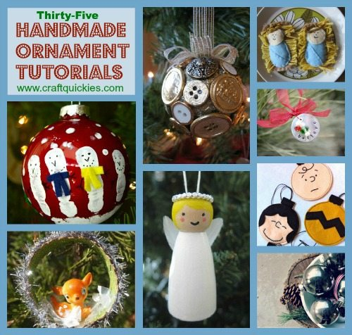 35 Handmade Ornament Tutorials compiled by Craft Quickies