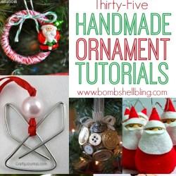 Handmade Ornament Roundup