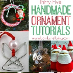 Handmade Ornament Roundup