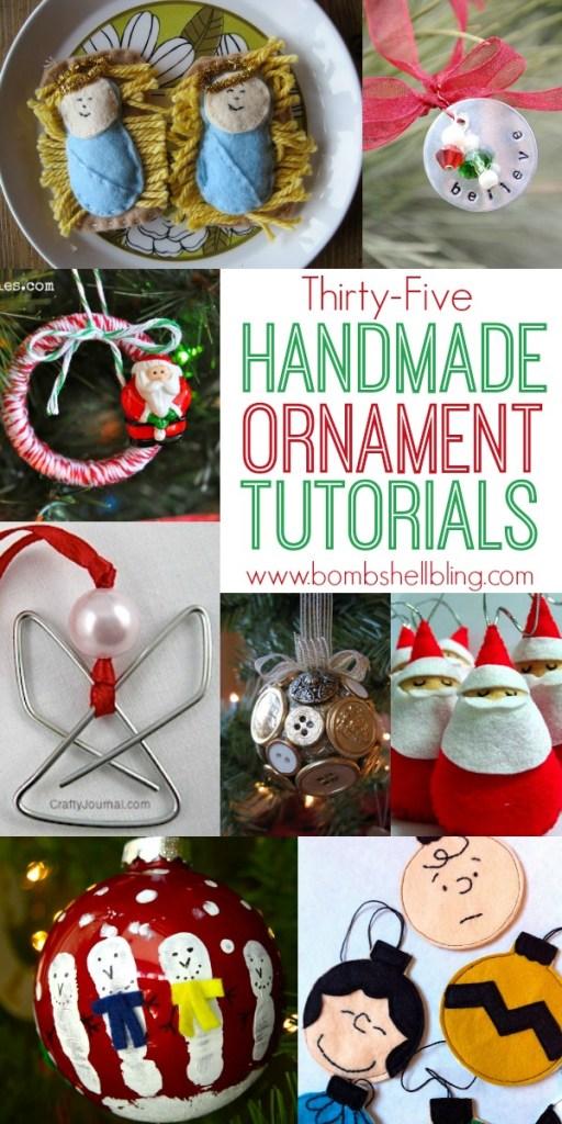 35 Handmade Ornament Tutorials from Bombshell Bling
