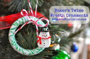 Baker's Twine Wreath Ornaments from Craft Quickies