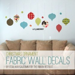 Christmas Ornament Fabric Wall Decals