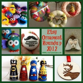 Etsy Ornament Roundup 2012 from Craft Quickies