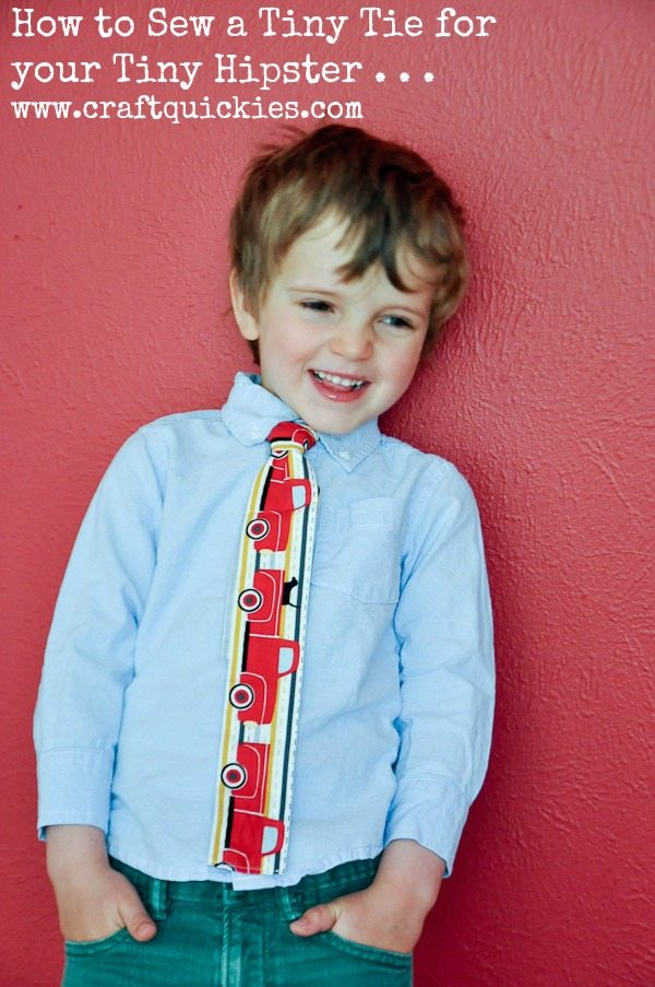 How to Sew a Skinny Tie for your Tiny Hipster from Craft Quickies 2