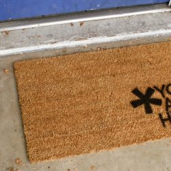 Simple Customized Welcome Mat