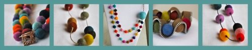Felt Necklaces from Bombshell Bling Jewelry