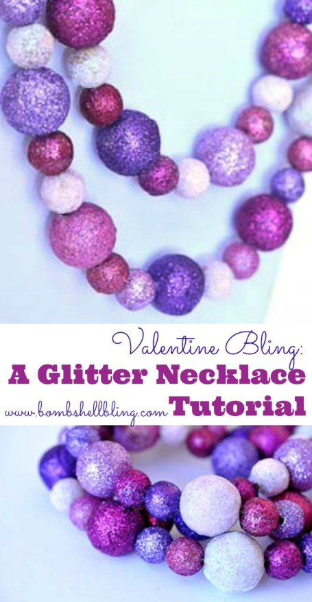 This glittered necklace is STUNNING!  Putting this on my to-do list!