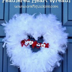 Feathered Heart Wreath