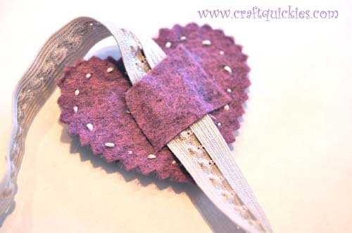 Romantic Stitched Wool Felt Headband14
