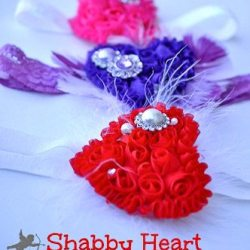 Shabby Heart Headband Tutorial