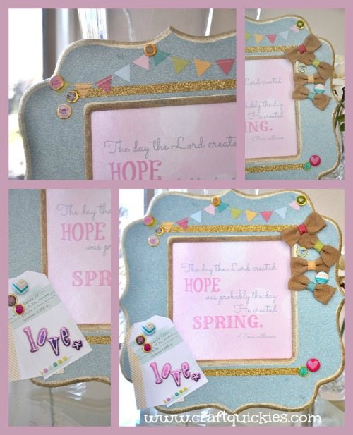 Dear Lizzy - Hope Springs Frame from Craft Quickies - Collage