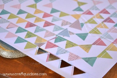 Dear Lizzy - Hope Springs Frame from Craft Quickies - Flag Banner