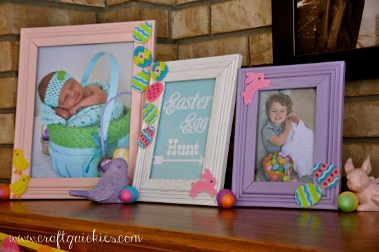 Easter Mantel & Frame Makeover