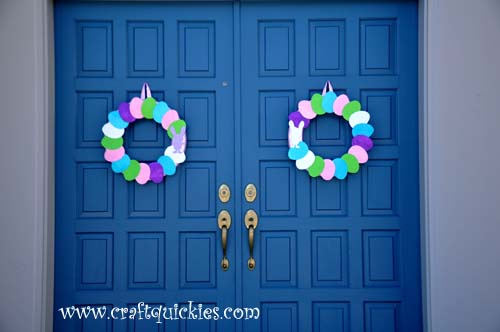 Hippity Hop Simple Easter Wreaths from Craft Quickies 6