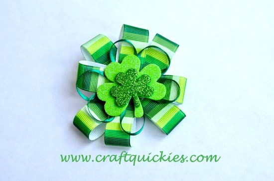 Lucky Charm Hair Bow from Craft Quickies 10