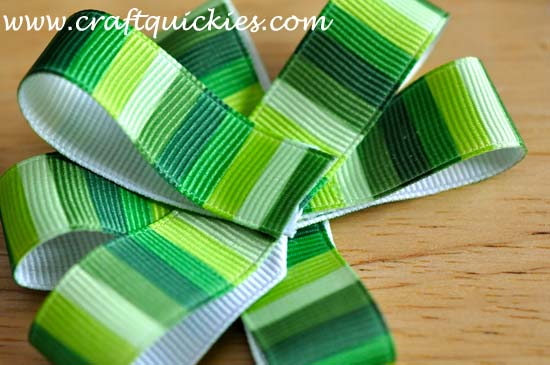 Lucky Charm Hair Bow from Craft Quickies 3