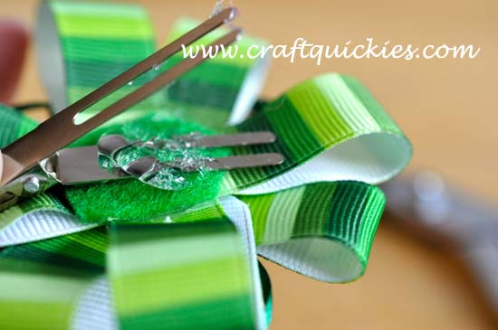 Lucky Charm Hair Bow from Craft Quickies 8