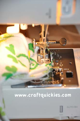 sewing baby leg warmers
