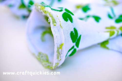 Lucky Legs - How to Make Baby Legwarmers from Craft Quickies9