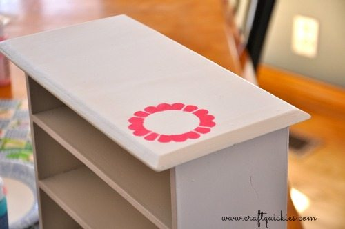 Painting a Sweet Miniature Dresser with Handmade Charlotte Stencils from Craft Quickies 6