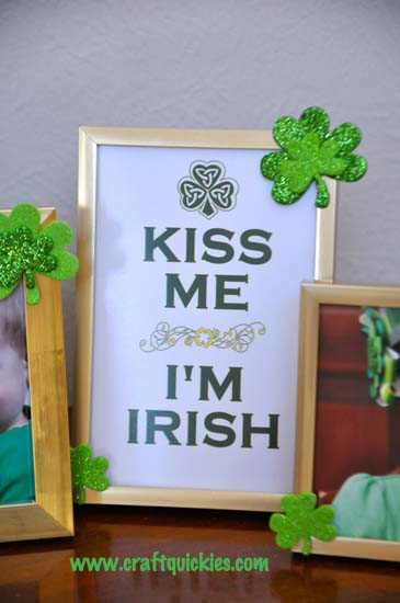 Quick & Easy St. Patrick's Day Frames from Craft Quickies 3