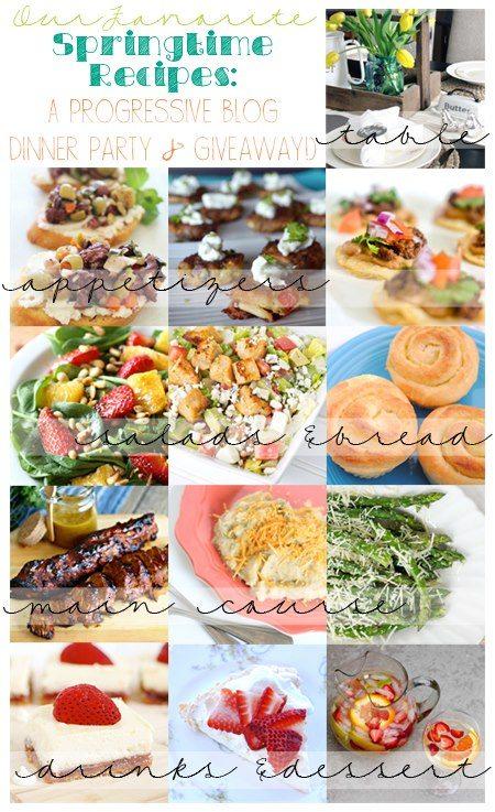 Springtime Progressive Dinner Party & Huge Giveaway