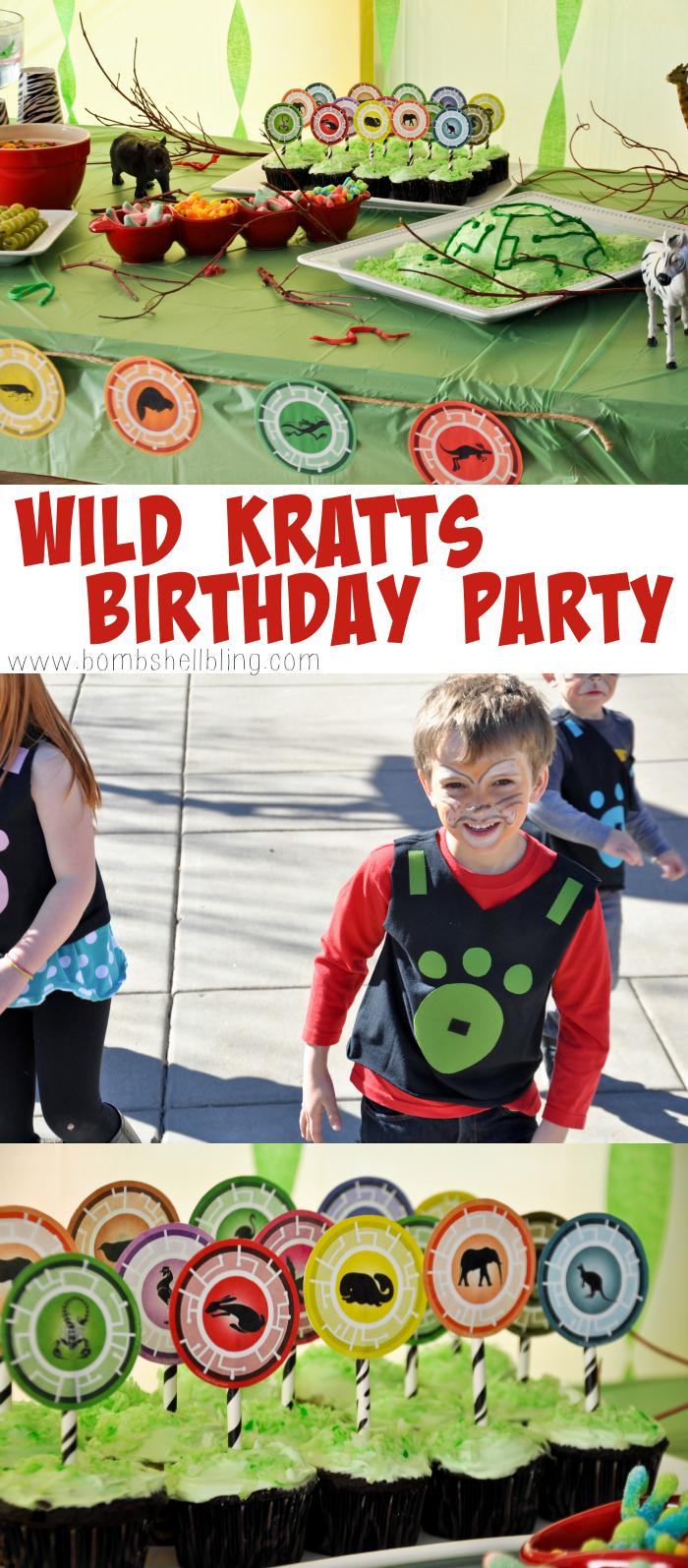Wild kratts party games