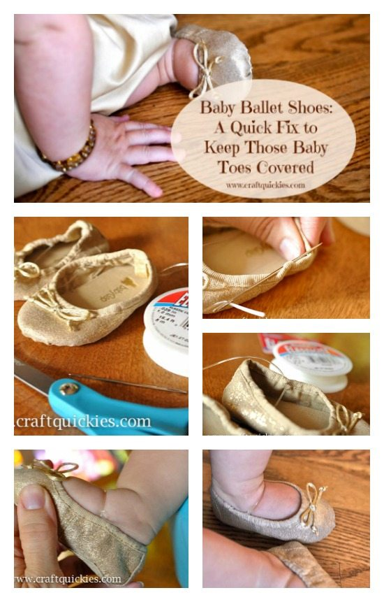 Baby Ballet Shoe Quick Fix Collage from Craft Quickies
