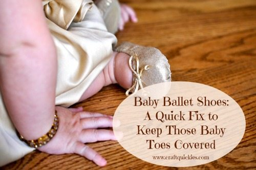 Baby Ballet Shoe Quick Fix from Craft Quickies