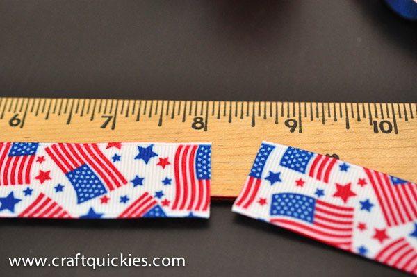 Measuring ribbon for firecracker bows