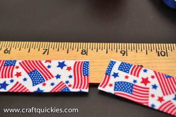 Measuring ribbon for firecracker bows