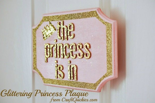 "I love this sweet ""The Princess Is In"" sign"