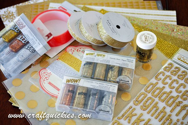 Gold Glitter Supplies from American Crafts