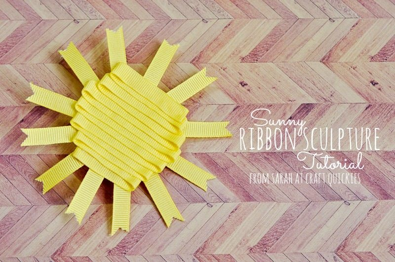 I love this darling, simple sunshine ribbon sculpture for little girls!
