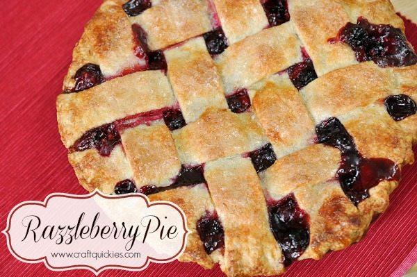 Razzleberry Pie overhead shot